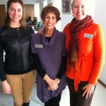 Allison Taylor, Allison Fricke and Lynn Hamilton at todays KARE-A-VAN program