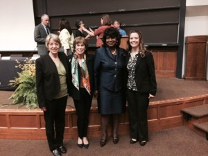 2014 Friedman Award Winners: (L to R) Nancy Morrow-Howell, Lynn Hamilton, Myrtis Elizabeth Smith Spencer, Jennifer K. Phillips