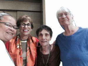 (L to R)Denise Ward-Brown, Lynn Hamilton, Lois Perryman, Patricia O'Connor Wrapping Up From Jim Crow to Barack Obama & Linking Arms to Celebrate the Day