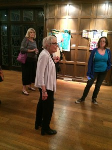 Barbara Simon Sharing Her Thoughts About Sun Smith-Foret's Quilts From Films