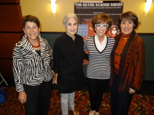 Pictured l to r: Judy Pass, Creve Coeur Arts Commission Liason, Discussants Rita Wells & Marylen Mann, Lynn Hamilton, Executive Director, Maturity and Its Muse